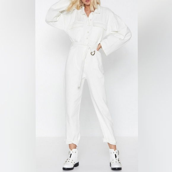 Nasty Gal Pants - PRICE FIRM‼️ NWT: Nasty Gal Denim Jumpsuit
